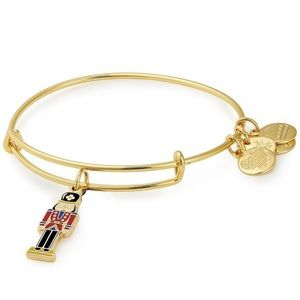 NWT Alex and Ani Gold Nutcracker Charm Bangle